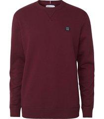 les deux piece sweatshirt burgundy charcoal mint