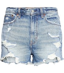 anf womens shorts shorts denim shorts blå abercrombie  fitch