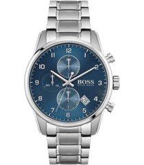 boss men's chronograph skymaster stainless steel bracelet watch 44mm