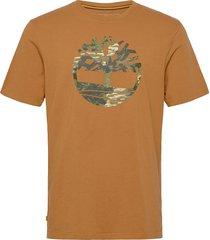 ss ft tree tee t-shirts short-sleeved orange timberland