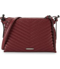 rebecca minkoff women's edie quilted leather crossbody bag - cherry wood