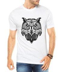 camiseta criativa urbana coruja tattoo style illustration tribal