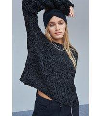 sweater negro 47 street calder lurex