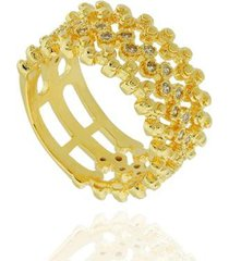 anel dona diva semi joias largo bolinhas