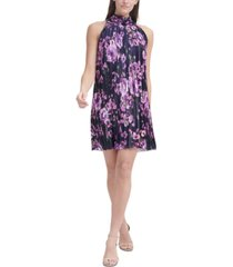 jessica howard floral-print chiffon trapeze shift dress