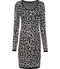 abito in maglia leopardato (grigio) - bodyflirt