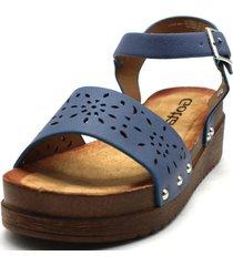 sandalia azul gotta