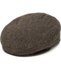 isabel marant herringbone textured hat - brown