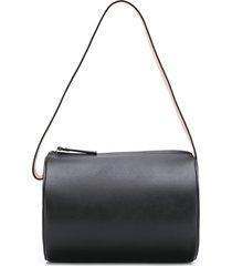building block round bucket bag - black