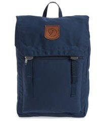 fjallraven foldsack no.1 water resistant backpack - blue