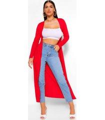 basic jersey maxi kimono, red