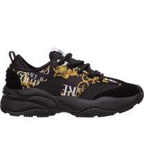 scarpe sneakers uomo camoscio logo baroque