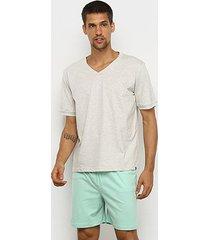 pijama curto lupo malha básico masculino - masculino