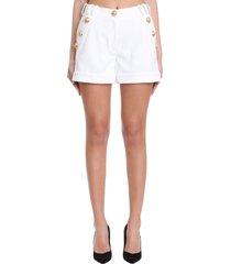 balmain shorts in white cotton
