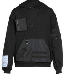mcq alexander mcqueen albion: modular hoodie