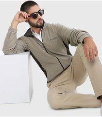 chaqueta beige-café columbia klamath range ii full zip