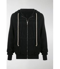 rick owens drkshdw stitched panel hoodie