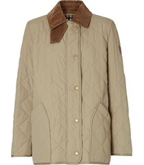 burberry diamond quilted barn jacket - neutrals