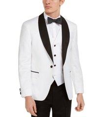 alfani men's slim-fit white medallion tuxedo jacket, created for macy's