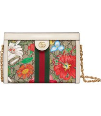 gucci small ophidia floral gg supreme canvas shoulder bag -