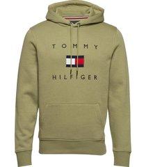 tommy flag hilfiger hoody hoodie trui groen tommy hilfiger