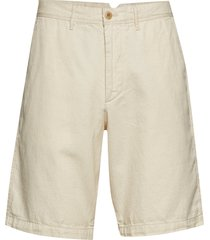 10 khaki shorts in linen-cotton shorts chinos shorts creme gap