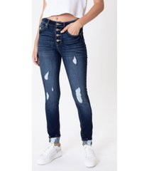 kancan women's high rise super skinny jeans