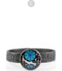 srebrny pierścionek azurra blue niebieski