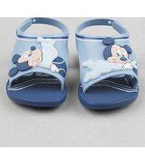 sandália infantil ipanema mickey mouse azul