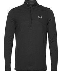 ua seamless 1/2 zip sweat-shirt tröja svart under armour
