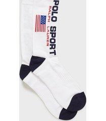 polo ralph lauren polo sport socks strumpor white