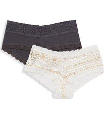 2-pack floral lace panties