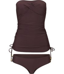 tankini a fascia (set 2 pezzi) (marrone) - bpc selection