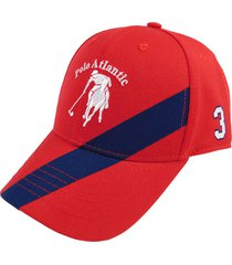 gorra cruzada rojo/azul