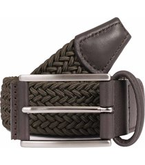 anderson's belts woven fabric belt - khaki b0667 ne37-v4