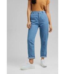jeans mujer medium rise chino denim esprit