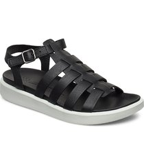 flowt lx w shoes summer shoes flat sandals svart ecco