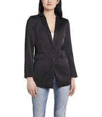 vince camuto women's soft satin notch collar blazer