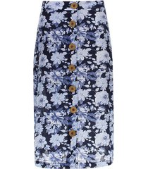 falda larga lineas verticales color azul, talla 6