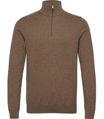 slhberg half zip cardigan knitwear half zip jumpers brun selected homme