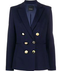 pinko decorative button blazer - blue