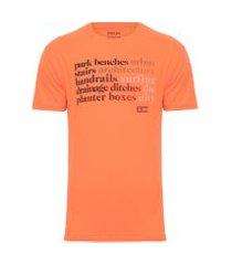 t-shirt masculina regular street sk8 - laranja