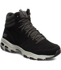 womens d'lites - chill flurry shoes boots ankle boots ankle boot - flat svart skechers