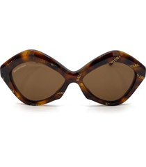balenciaga balenciaga bb0125s havana sunglasses