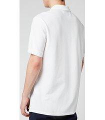 ps paul smith men's zebra logo regular fit polo shirt - white - xxl