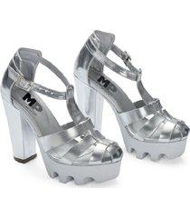 sandalia stylish adulto femenino marketing personal 60504 plata