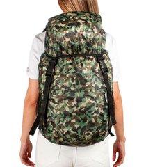 morral viajero plegable estampado camuflado citybags multicolor
