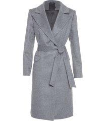 casaco sobretudo feminino alpaca - cinza