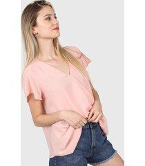 blusa rosa etam raca