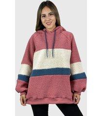 abrigo corderito boho chic rosado enigmática boutique